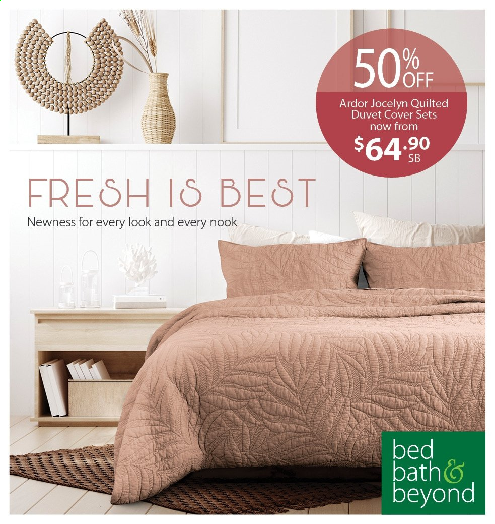 Bed Bath & Beyond mailer - 09.02.2021 - 21.02.2021 - Sales products - bed, duvet. Page 1.